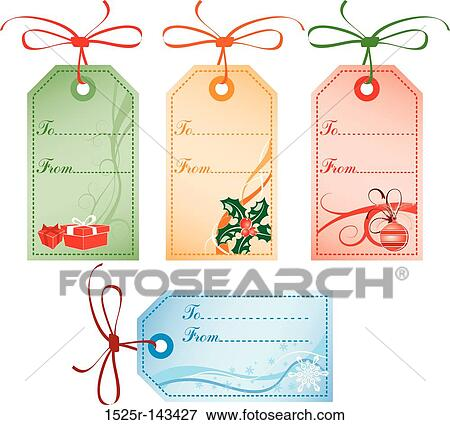 christmas gift tags vector - Decorative Christmas Gift Tags