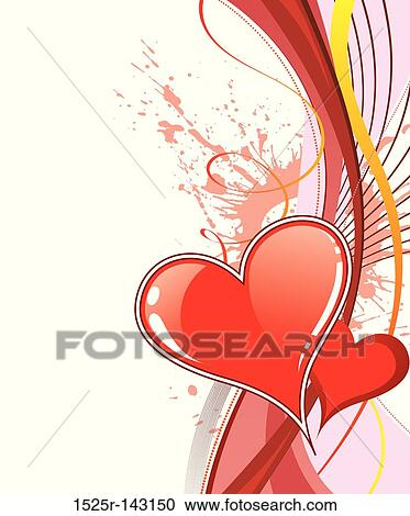 Stock Illustrations Of Valentines Day Background With Hearts And