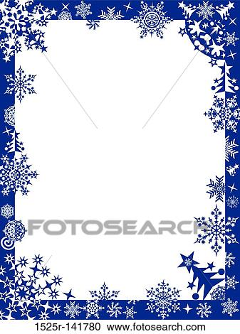 stock illustrations of winter frame with snowflakes vector 1525r