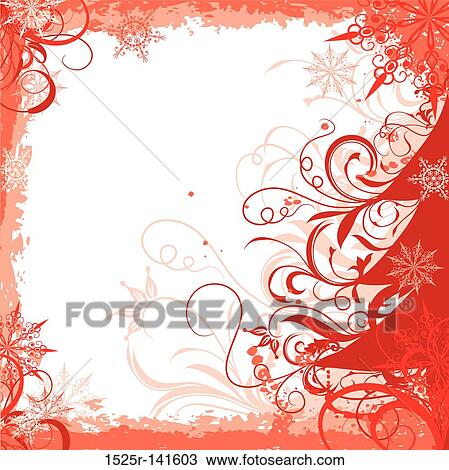 drawing winter grunge christmas frame vector fotosearch search clipart illustration