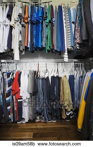 Stock Photography Of Teenage Boys Walk In Closet Luxury Home