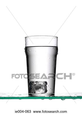 Stock Photo Of Ice Cube In Glass Of Water Ie004 063 Search Stock