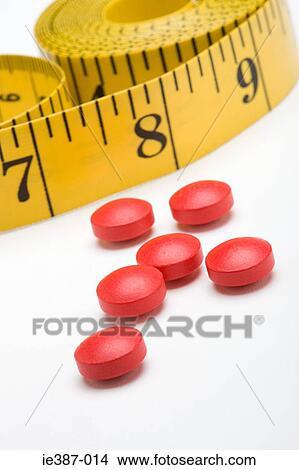 Stock Foto Bandmass Und Machen Diat Pillen Ie387 014 Suche
