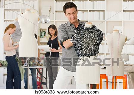 fashion designers at work stock image is098r833 fotosearchfashion designers at work
