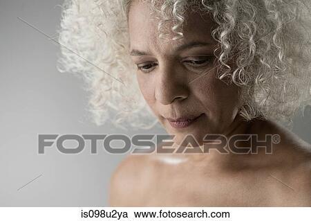 Mature woman topless