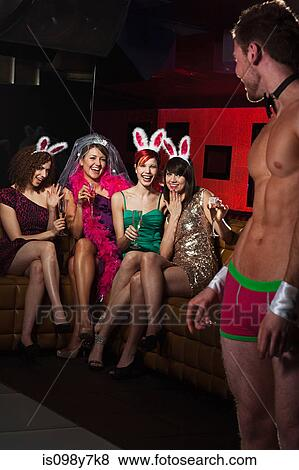 Women And Male Strippers