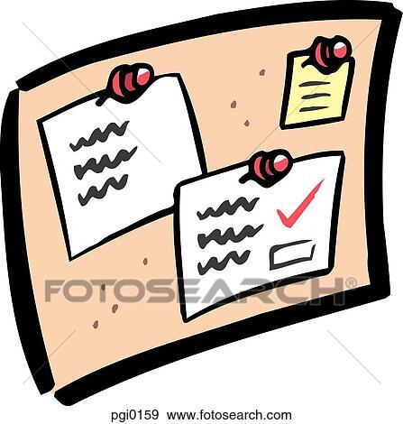 stock illustration of bulletin board pgi0159 search vector clipart rh fotosearch com bulletin board clipart black and white bulletin board clipart black and white