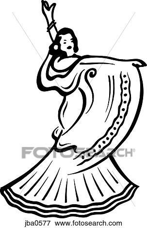 Stock Illustration Of Flamenco Dancer Bw Jba0577