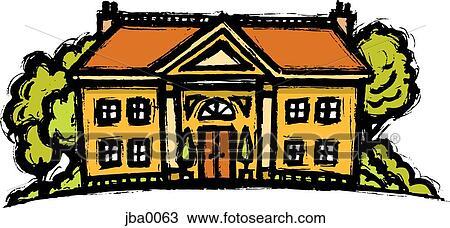Dessin manoir jba0063 recherchez des cliparts des illustrations et des images vectoris es - Manoir dessin ...