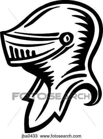 drawing of knight s helmet b w jba0433 search clipart
