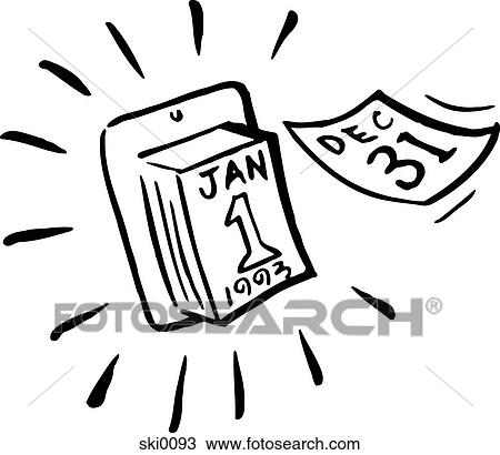 drawing new year bw fotosearch search clipart illustration fine art prints
