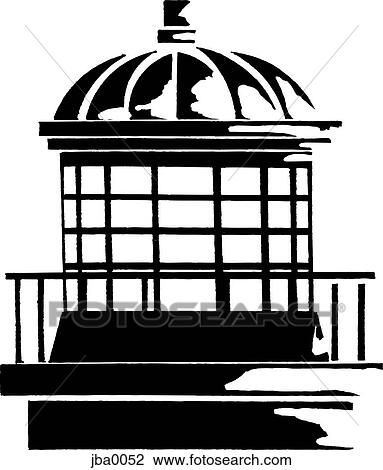 clip art of top of a lighthouse b w jba0052 search clipart rh fotosearch com Animated Lighthouse Clip Art Lighthouse Clip Art Black and White