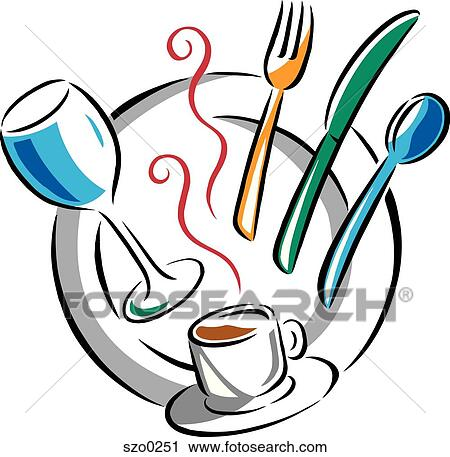 clipart of place setting szo0251 search clip art illustration rh fotosearch com place setting clip art free table setting clipart black and white