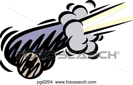 drawings of a cannon being fired pgi0204 search clip art rh fotosearch com cannon clip art disc cannon clip art free
