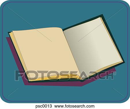 A Image De Livre Ouvert Sur A Arriere Plan Bleu Dessin