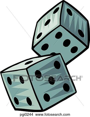 A pair of dice Stock Illustration