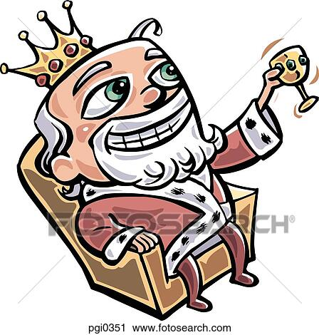 clipart of a royalty sitting in his throne drinking pgi0351 rh fotosearch com thorn clipart thorn clipart