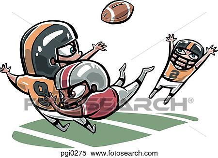 Banque d 39 illustrations joueurs jouer jeu de football am ricain pgi0275 recherche de - Dessin football americain ...