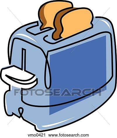 clipart of toaster with toast popping up vmo0421 search clip art rh fotosearch com toast clipart png toast clipart free