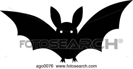 Kleurplaten Poster Black And White Drawing Of A Bat Stock Illustration