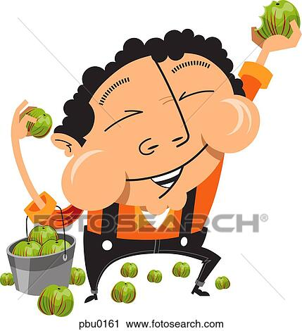 clipart of man eating apples from a bucket pbu0161 search clip art rh fotosearch com clip art taking a nap clip art eating out