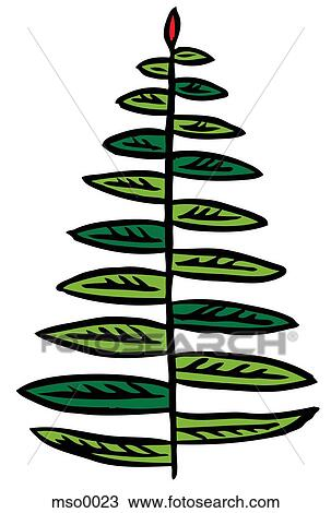 drawing of a fern leaf mso0023 search clipart illustration fine rh fotosearch com fern clipart png fern leaves clipart