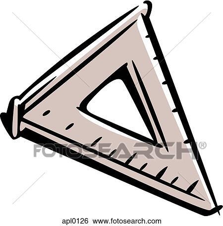A 三角定規 イラスト Apl0126 Fotosearch