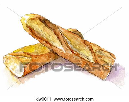 A Painting Of Baguette