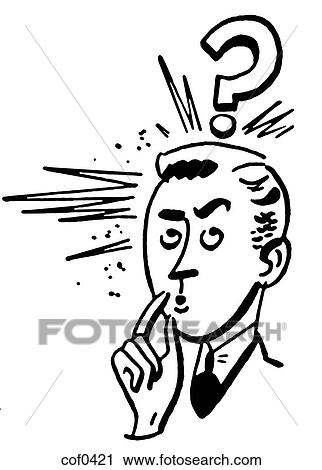 Clipart Of A Black And White Version Of A Cartoon Style Drawing Of A