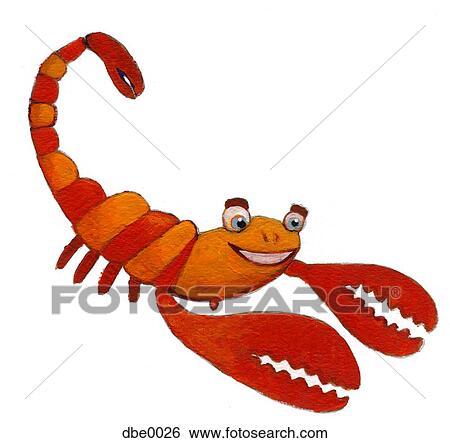 Dessin D Un Scorpion banque d'illustrations - a, heureux, scorpion dbe0026 - recherche de