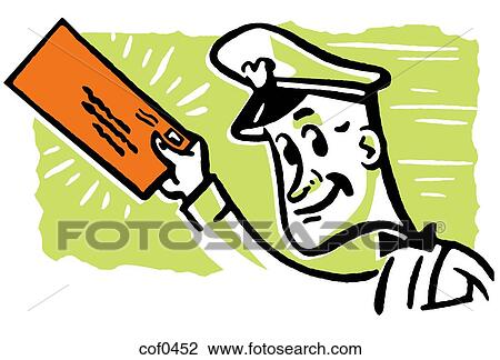 clip art of a postal worker delivering mail cof0452 search clipart