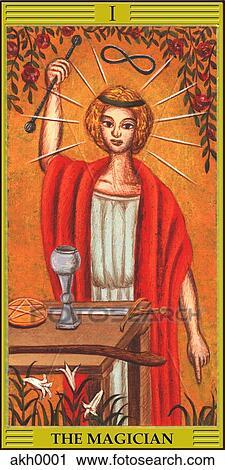 Magician tarot card Clip Art