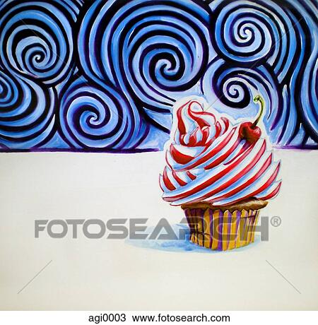 Kresba Cupcake S Jeden Tresen Oproti Opatrit Vrskem Agi0003