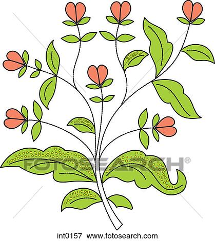 Stock illustration of pink flower buds int0157 search eps clipart pink flower buds mightylinksfo