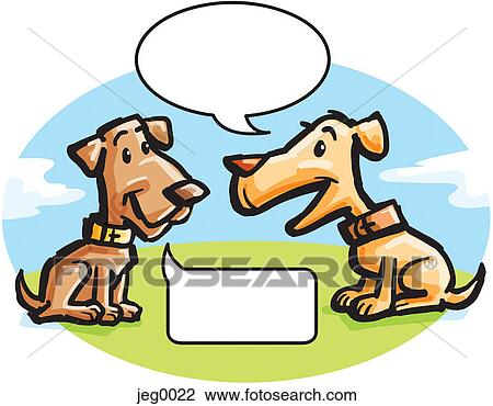 clip art of two dogs talking jeg0022 search clipart illustration rh fotosearch com walking clip art borders walking clip art borders