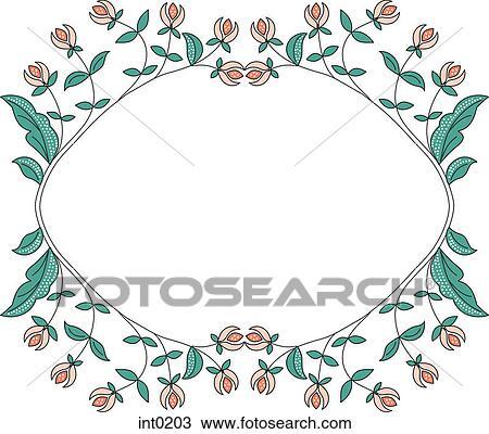 Disegno Uno Bordo Di Fiori Int0203 Cerca Clipart