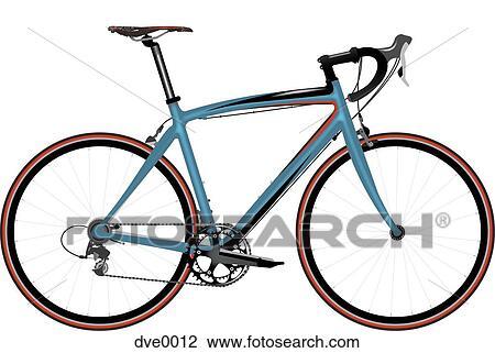 A Vélo Course Sur A Fond Blanc Dessin