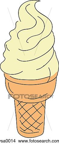 Drawings Of A Vanilla Ice Cream Cone Vsa0014 Search Clip Art