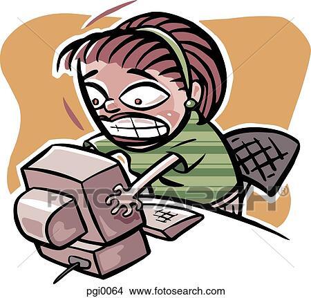 Dibujos - mujer computadora, problemas pgi0064 - Buscar ...