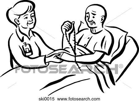 Stock Illustration Of Praying For Health Bw Ski0015
