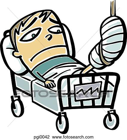 clip art of broken leg pgi0042 search clipart illustration rh fotosearch com