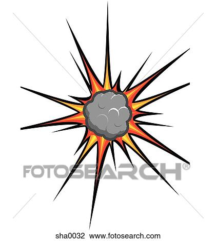 clip art of explosion sha0032 search clipart illustration posters rh fotosearch com explosion clipart free explosion clipart no background