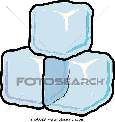 stock illustration of ice cubes sha0028 search eps clip art rh fotosearch com melting ice cubes clipart ice cube clipart