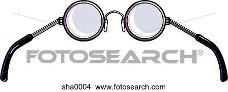 drawings of pair of eyeglasses sha0004 search clip art