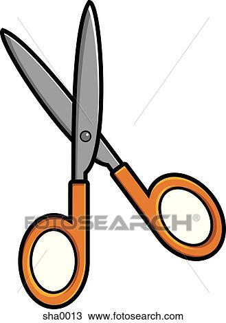Drawing of Scissors sha0013 - Search Clipart, Illustration, Fine ...