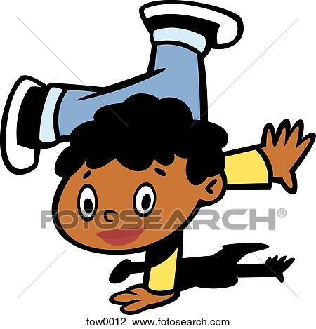 clip art of little boy trying to do a hand stand tow0012 search rh fotosearch com clipart little boy pictures clipart little boy praying