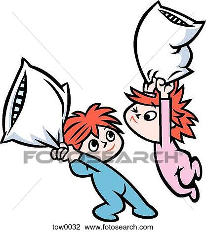 clip art of pillow fight tow0032 search clipart illustration rh fotosearch com clipart fotosearch weihnachten fotosearch clipart