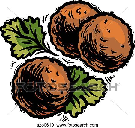stock illustrations of an illustration of three meatballs szo0610 rh fotosearch com meatball clipart pictures clipart meatball sub