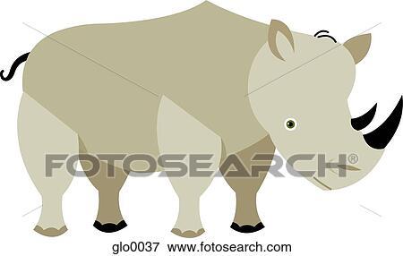 Ilustrace Z Mnoziny Kresleni O Jeden Nosorozec Glo0037 Hledat
