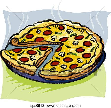 tekening een  pan  van  afgesnijdenene  pizza sps0513 pizza toppings clip art free pizza toppings clipart free
